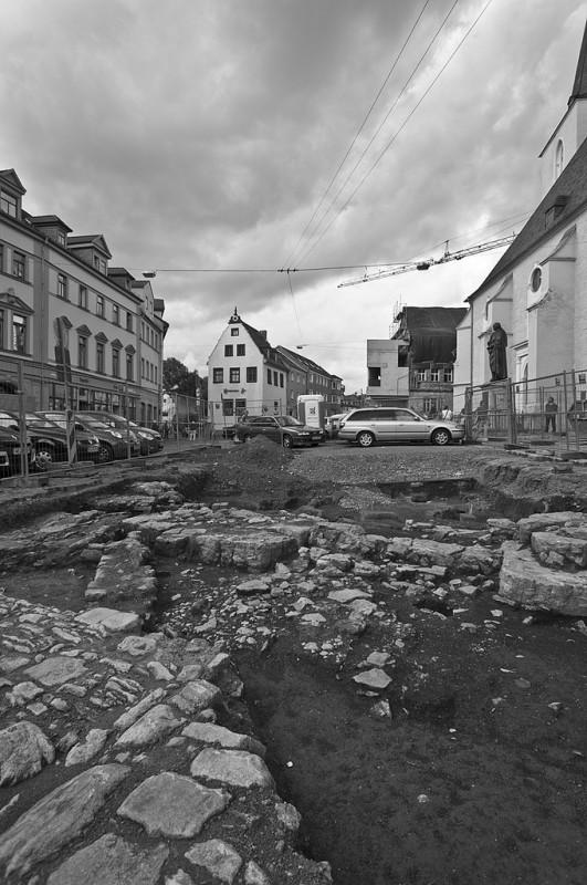 Archäologische Ausgrabungen am Herderplatz