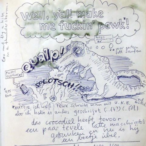 »Das kotzende Krokodil« gezeichnet 2000, von Niels Heidenreich