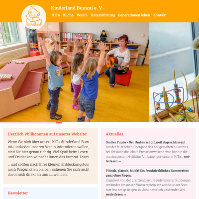 Website Kinderland Bummi e. V.