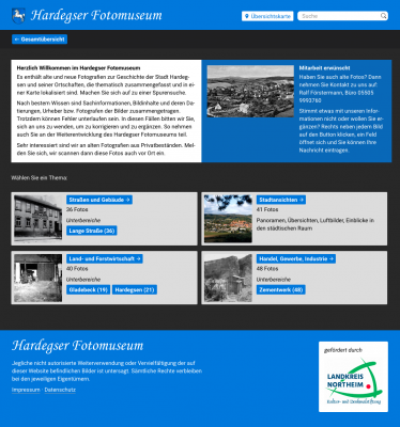 Screenshot »Hardegser Fotomuseum«