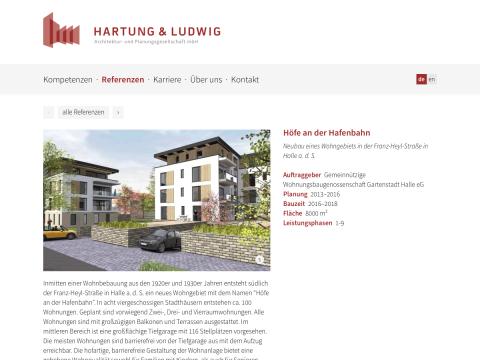 Website »Hartung & Ludwig Architektur- und Planungsgesellschaft mbH«