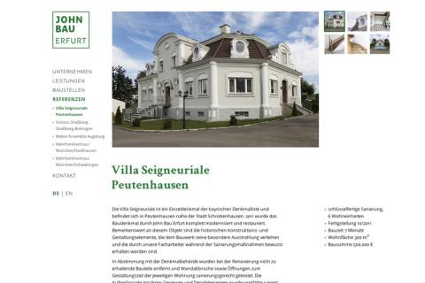 Website John Bau Erfurt
