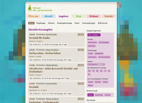Website Malschule Weimar