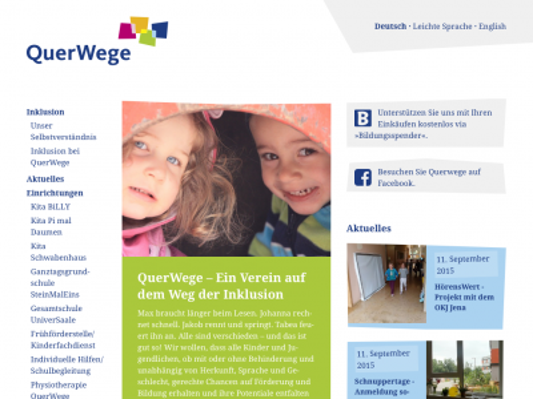 Website Querwege e.V.· Startseite